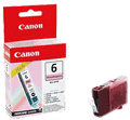 BCI6PM : Cartouche d'ENCRE Photo Magenta (rouge) CANON (4710A002AA) (300 pages) pour CANON BUBBLE JET I9950