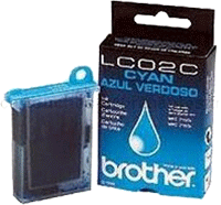LC02C : Cartouche Jet d'encre BROTHER Cyan (bleu) (400 pages) pour BROTHER MFC 760