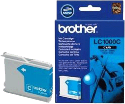 LC1000C : Cartouche d'encre BROTHER Cyan (bleu)(400 pages) pour BROTHER DCP240C