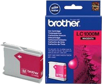 LC1000M : Cartouche d'encre BROTHER Magenta (rouge) (400 pages) pour BROTHER DCP240C