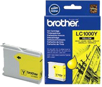 LC1000Y : Cartouche d'encre BROTHER Jaune (400 pages) pour BROTHER DCP240C