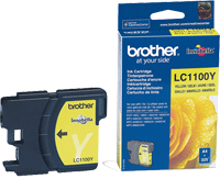 LC1100Y : Cartouche jet d'encre Yellow (jaune) (325 pages) de marque Brother pour BROTHER DCP383C
