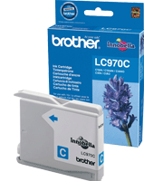 LC970C : Cartouche jet d'encre BROTHER Cyan (bleu) (300 pages) pour BROTHER DCP150C