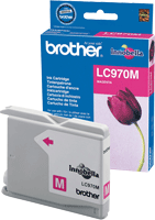 LC970M : Cartouche jet d'encre BROTHER Magenta (rouge) (300 pages) pour BROTHER DCP150C