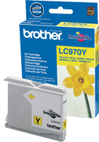 LC970Y : Cartouche jet d'encre BROTHER Jaune (yellow) (300 pages) pour BROTHER DCP150C