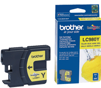 LC-980Y : Cartouche jet d'encre Yellow (jaune) (260 pages) de marque Brother pour BROTHER DCP193C