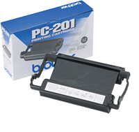 PC-201 : Ruban Transfert Thermique de marque Brother (420 pages) pour BROTHER INTELLI FAX 1170