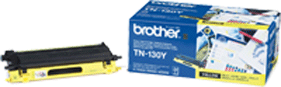 TN130Y : Cartouche de toner de marque BROTHER Yellow (jaune) (1500 pages) pour BROTHER DCP9042CDN